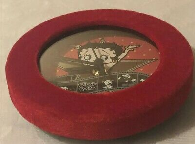 Betty Boop Red Velour Wall Clock Item# 10289 Used