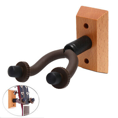 Guitar Hanger Wooden Wall Mount Hook Holder Acoustic Guitar Keeper For ElectATA