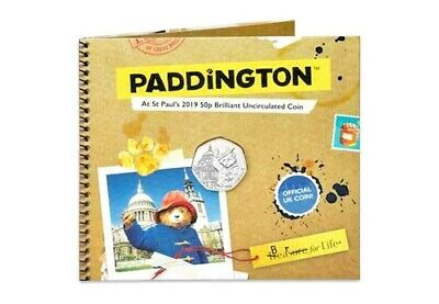 2019 50p COIN PADDINGTON BEAR AT ST PAULS CATHEDRAL BUNC SEALED PACK