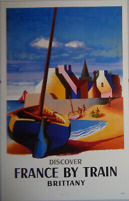 Discover France By Train - Brittany - French National Railroads Poster