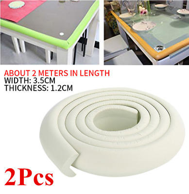 2Roll 2M Baby Safety Rubber Foam Bumper Strip Safety Table Edge Corner Protector