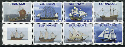Suriname 2019 MNH Classic Ships Cutty Sark HMS Victory Mary Rose 7v Block Stamps