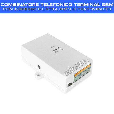 COMBINATORE TELEFONICO TERMINAL GSM con input e output PSTN design ultracompatto