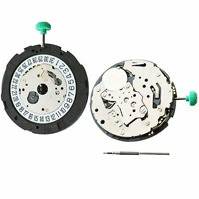 MIYOTA OS21 Automatic Quartz Watch Movement Date at 6' Attached Stem Battery Set