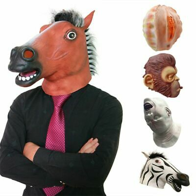Halloween Funny Latex Full Face Mask Animal Cosplay Costume Party Decor Props US