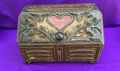 Antique 19th or early 20th Century Tramp / Folk Art Love Token Box