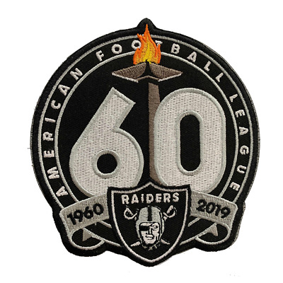 Nfl 2019 Oakland Raiders 1960-2019 60Th Anniversary Patch Iron On Sewn On