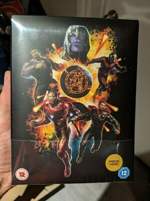 Avengers Endgame Limited Collector's Edition (Blu-ray + 4K UHD) Light Up Slipbox