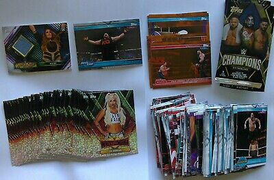 Topps WWE Champions 2019 Base, Foil, Bronze, Silver 81, Mat Relic Nia Jax Cards