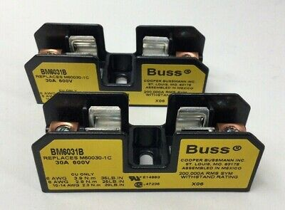 Bussmann BM6031B Fuse Holder 1Pole 30A 600V Buss (Pack Of 2)
