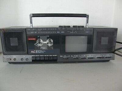 Vintage Gpx Portable Stereo Am/Fm Radio/B&W Tv/Cassette Recorder