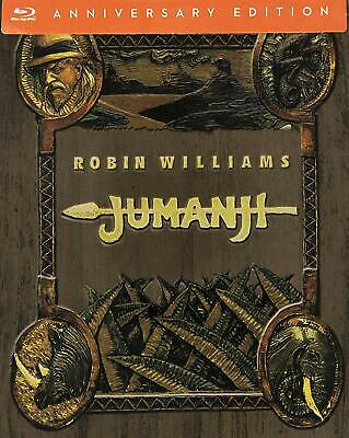 Jumanji 1995 Robin Williams RARO Blu-ray Steelbook Audio Italiano English