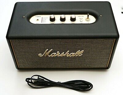Marshall Stanmore Wireless Bluetooth Speaker BLACK with white logo