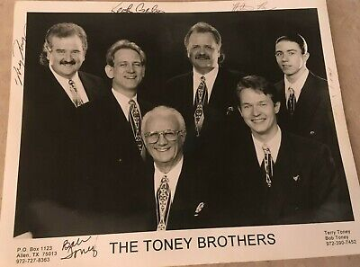 The Toney Brothers Autograph  8 X 10 Photo