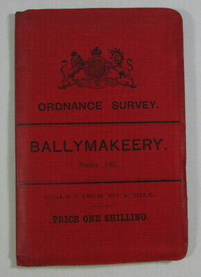 1899 Old OS Ordnance Survey Ireland One-Inch Second Edition Map 185 Ballymakeery