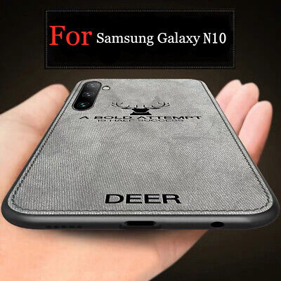 For Samsung Galaxy Note 10+ S9 S10 Shockproof Slim Cloth TPU Rubber Case Cover