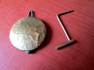 "Antique / Vintage Banjo, Ogee Brass Covered Pendulum  With Key 2-1/4""  (444A27)"
