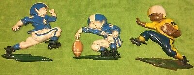 Vintage Football Player Metal Wall Hangings Plaques Homco / Sexton