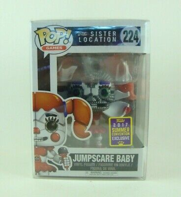 Funko Pop SDCC 2017 Games jumpscare BABY Five Nights at Freddy/'s #224 Nuovo//Scatola Originale