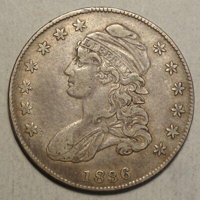 1836 Capped Bust Half Dollar, Discounted Bargain Price.   0613-28