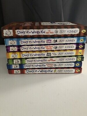 Diary of a Wimpy Kid by Jeff Kinney books 1-7 Harback / Paperback Xmas Gift