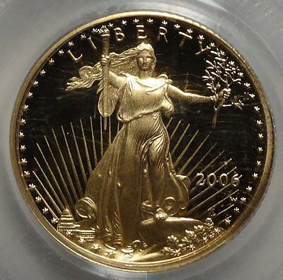 2006-W $5 Gold Eagle, 1/10 Ounce PCGS PR69DCAM, Great Eye Appeal!