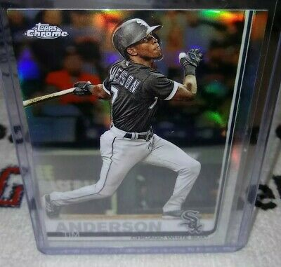 2019 Topps Chrome Refractors #186 Tim Anderson Chicago White Sox