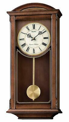 Seiko Wall Pendulum Clock Dark Brown Wooden Case