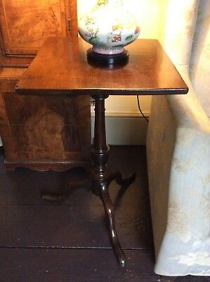 GEORGE III OAK PEDESTAL TABLE 18th Century Tripod Occasional