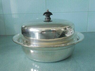 Antique Vintage James Dixon Silver Plated Muffin Dish / Keep Warm Plate & Cover