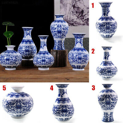 Home Decor Ceramic Vases Antique Blue And White Porcelain For Flowers C Pattern
