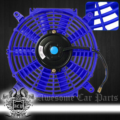 "For Benz 10"" Inch Eletric Fan High Power Abs Plastic Radiaotr Cooler 80W Blue"
