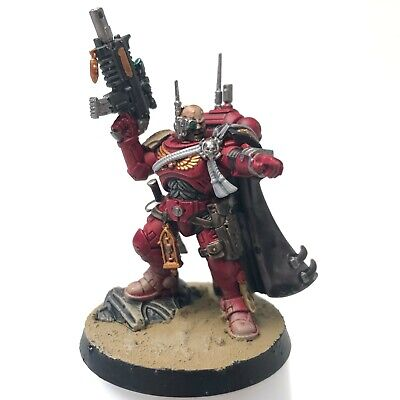 Primaris Space Marines: Painted Blood Ravens Captain In Phobos Armour/Camo Cloak