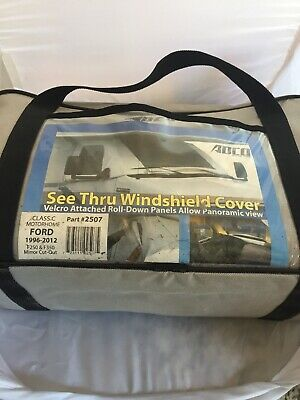 ADCO 2507 Deluxe Clear Windshield RV Cover with Mirror Cut-out Ford 1996-2012new