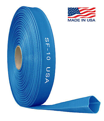 """PVC Lay Flat Hose Water Pump Transfer Discharge Pipe 1"""" to 4"""" in 10/20/30/100mtr"""