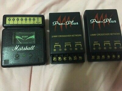 Marshall CAT guitar Tuner New with free 2 way crossover network (x2) & washburn