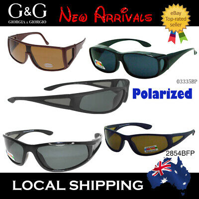 Hot Cancer Council Style Men Women Polarized Fitover Sunglasses Wrap Around