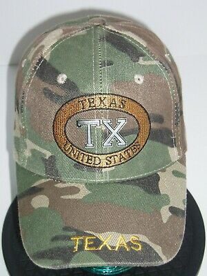 Cool TX Texas United States Camouflage Adjustable Baseball Cap