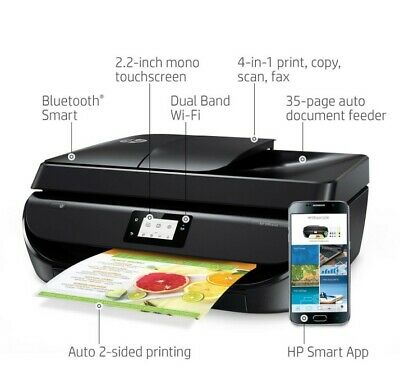 HP OfficeJet 5258 All-in-1 Color WIRELESS Printer. Print from phone. Ink include