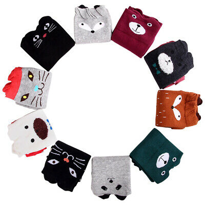 Baby Girls Warm Spring Winter Cotton Knee High Socks Kids Toddler Cute Cartoon