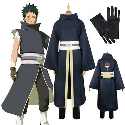 Cosplay Anime Naruto Shippuden Uchiha Obito Madara Halloween Costume Uniform Set