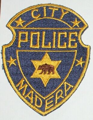 Very Old MADERA CITY POLICE patch California Brown Bear CA PD Vintage patch