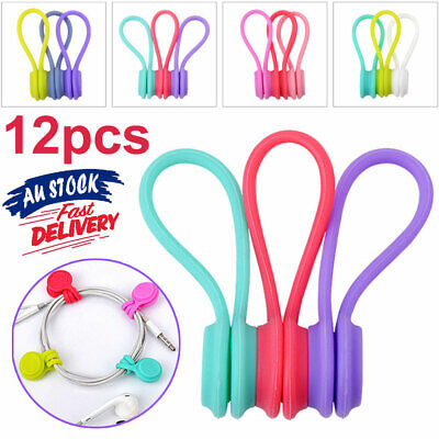 3 Pcs Magnetic Organiser Tie Cable Earphone Cord Clip Holder Headphone Winder