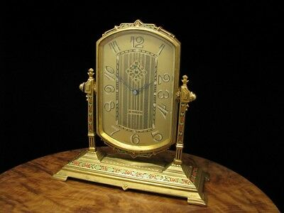 Antique Art Nouveau 8 Days Table Clock/Fireplace Clock with Alarm Function from