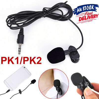 Mini Mic Lavalier Microphone PC Recording Lapel 3.5mm Mobile Phone For Clip-on