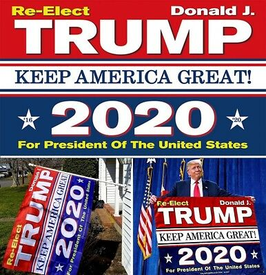 3x5 Ft Trump 2020 President Donald trump Make America Great RE-Elect Flag