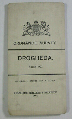 1899 Old OS Ordnance Survey Ireland One-Inch Second Edition Map 92 Drogheda