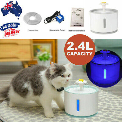 2.4L LED USB Automatic Electric Pet Water Fountain Cat/Dog Drinking Dispenser