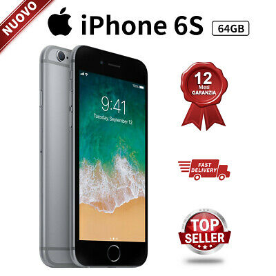 Nuovo Apple iPhone 6s 64GB Grigio Siderale Smartphone IT Top Seller