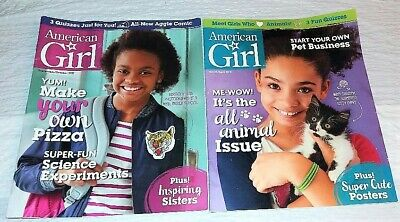 LOT OF 2 AMERICAN GIRL MAGAZINE-VG to GOOD CONDITION